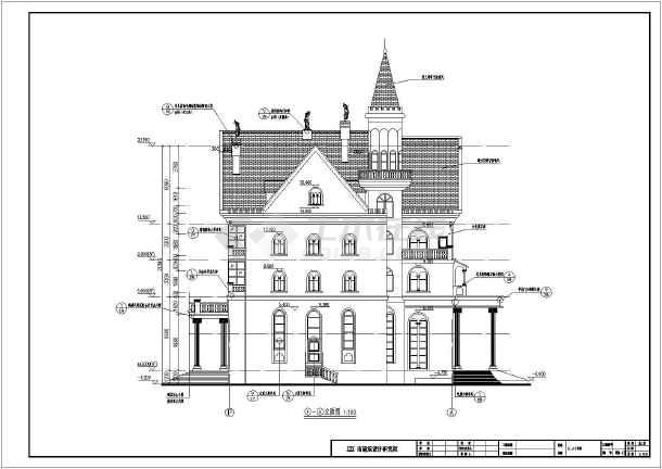 某郊区四层别墅别墅v别墅图纸(含建筑设计)寿命定的荣家结构图片
