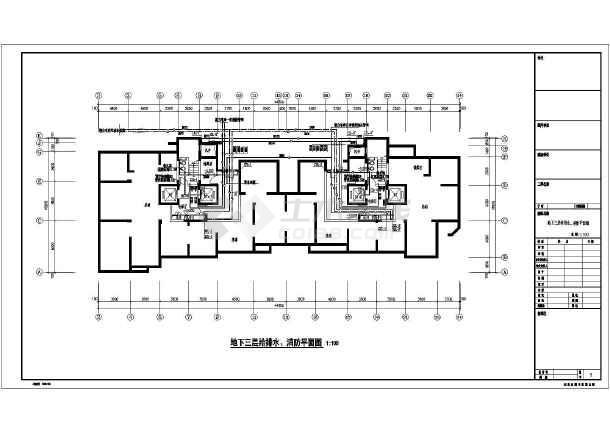 框架结构住宅施工图 消防工程安装施工图 消防工程施工流程图  所属