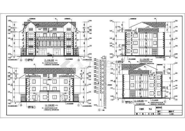 【安徽】宣城3层框架结构别墅建筑结构全套施工图