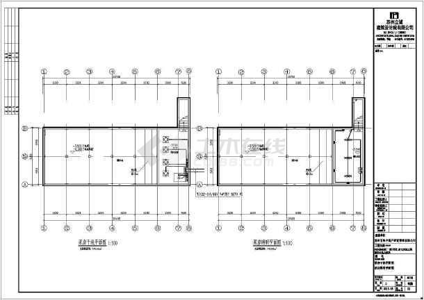 300方小区消防水池全套施工图(建筑,结构,水电)