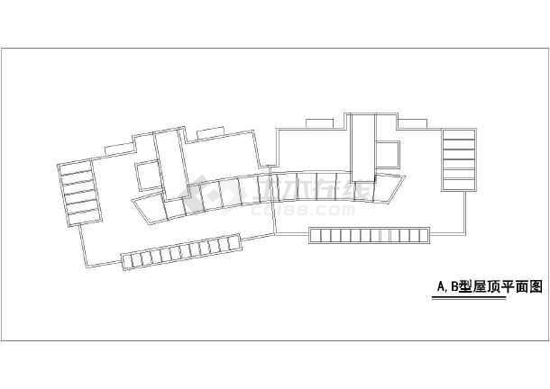 某高层住宅楼建筑平,立,剖面cad图