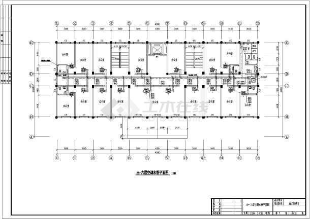 某地欧式商务办公楼中央空调管道设计图图片3