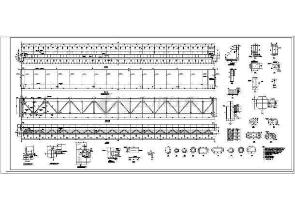 某地50t吊车梁结构设计规划图(共5张)-图3