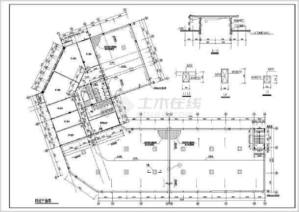 某地转角大酒店建筑设计施工全套图