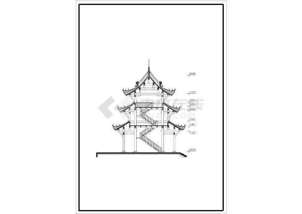 某古建筑药师殿设计施工图(共4张)