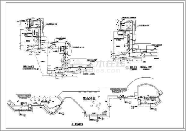 某地区景区雕塑水池结构设计详图(CAD)-图2