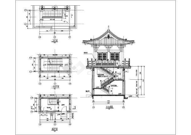 古代城门及山门建筑设计施工cad方案图纸