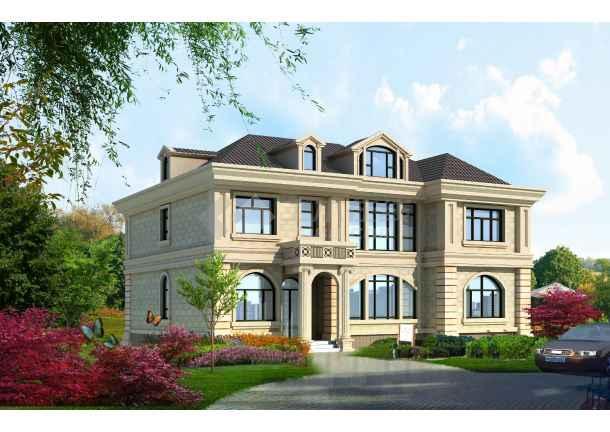 某大全平立剖面图有别墅附带效果图欧式豪宅别墅装修图片阁楼图片