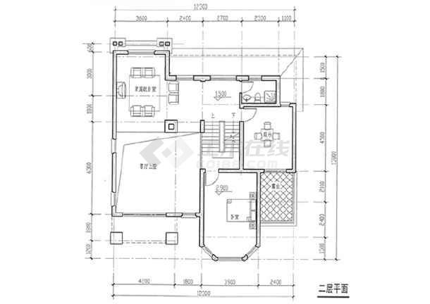 10套独栋别墅户型平面图 含效果图