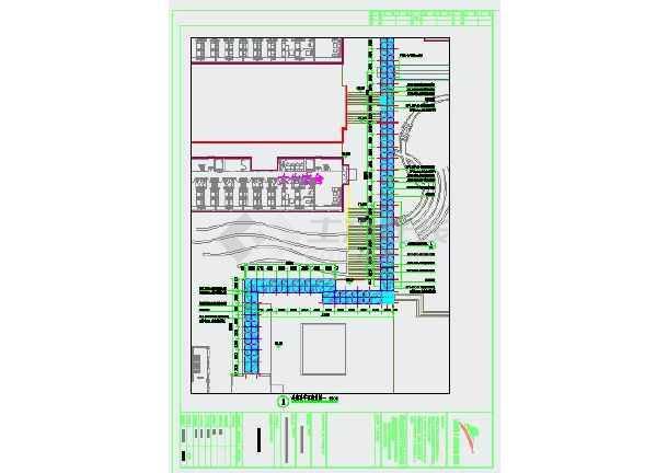 某中學風景園林和市政工程全套景觀及水電施工圖(小品