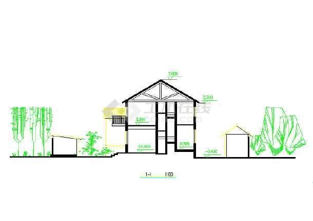 某北方两层独院式农村住宅别墅房屋设计建筑cad施工图
