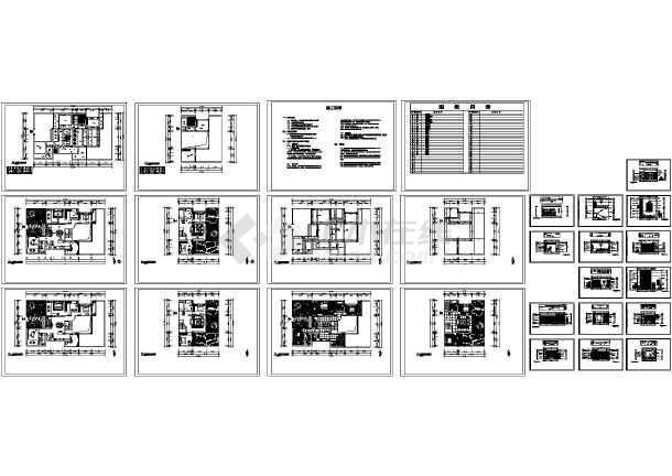 别墅装修设计施工图高清图片