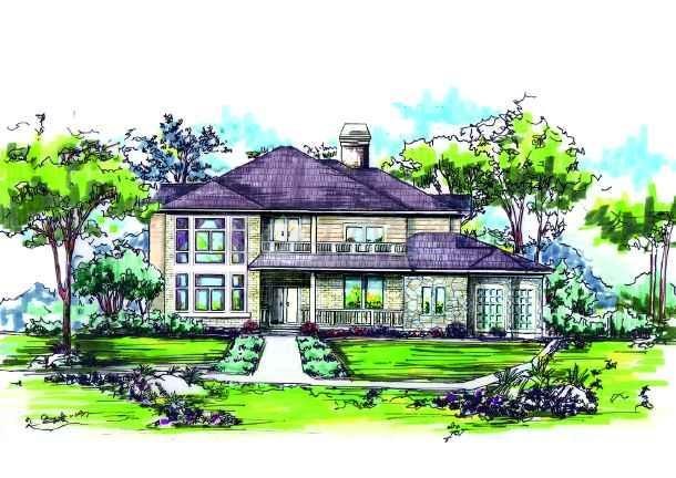 建筑图纸 别墅手绘