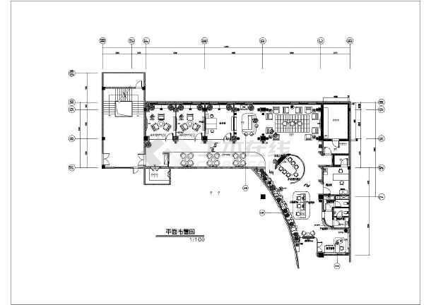地五层框架结构办公室装饰设计施工图