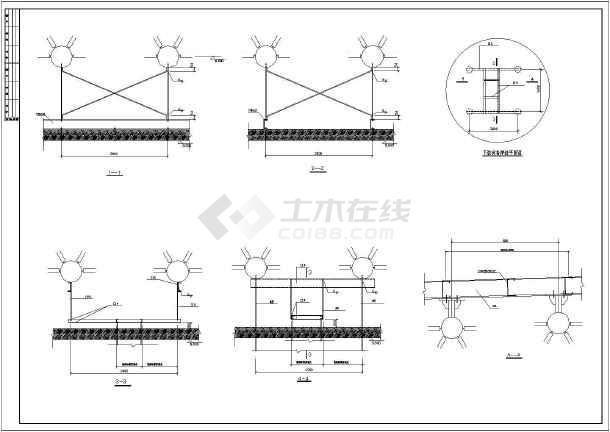 某地单层网架结构车间屋面结构施工图