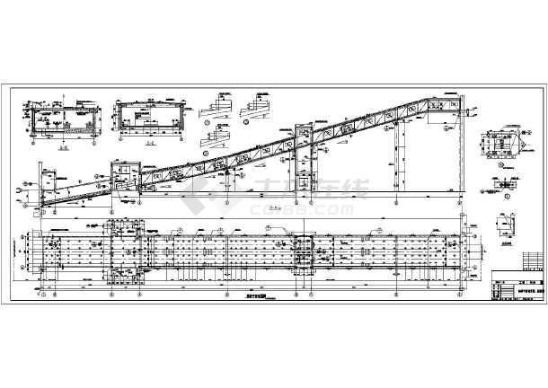 某地电厂钢桁架结构输煤皮带栈桥结构施工图