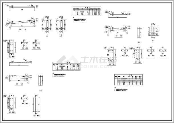 图纸内容包含结构设计说明,地脚锚栓布置图,屋面结构布置图,屋面檩条