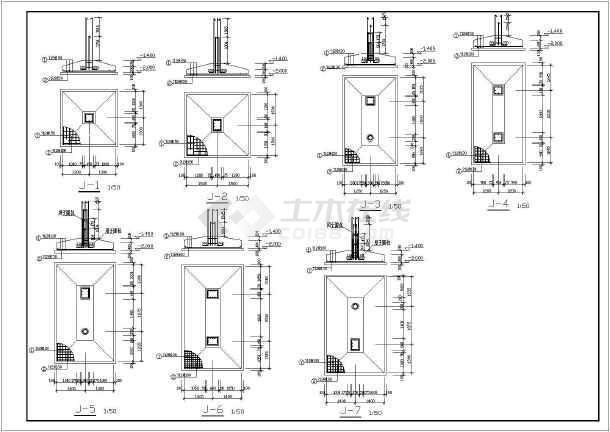 某地二层框架结构庙宇结构设计施工图