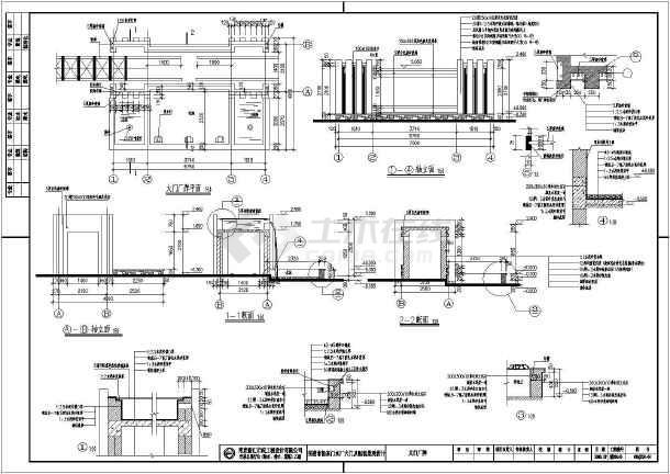 厂牌平面图,屋顶平面图,各立面图,各剖面图,卫生间大样,节点大样,门窗
