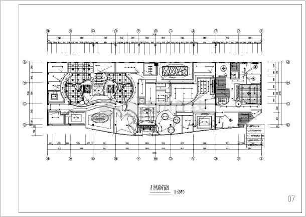 某简约风格办公室室内装修设计施工图_cad图纸下载图片