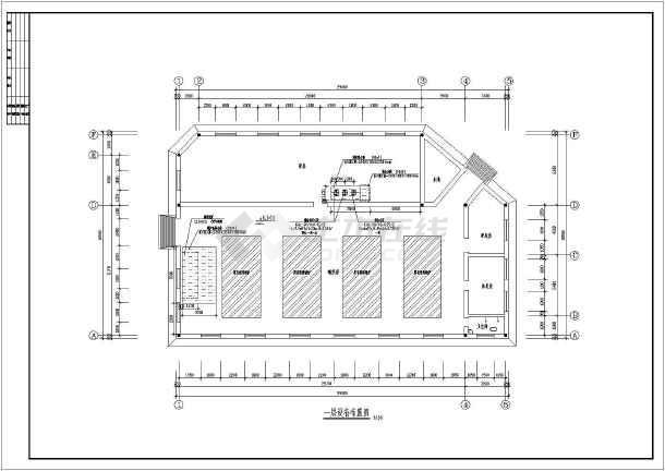 二层大众浴池热水,排水系统,采暖系统设计图