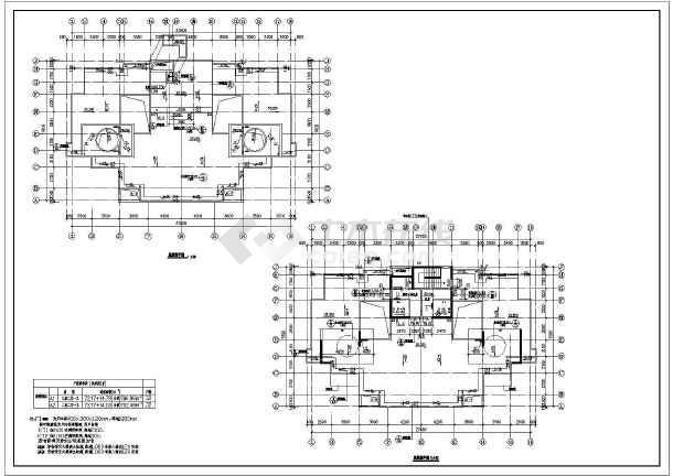 某地18层框架剪力墙结构住宅楼建筑施工图图纸
