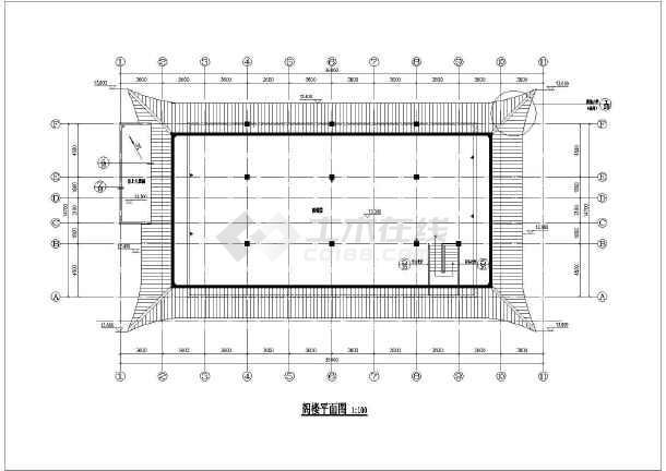 某地外2内4层框架结构仿古寺庙建筑施工图