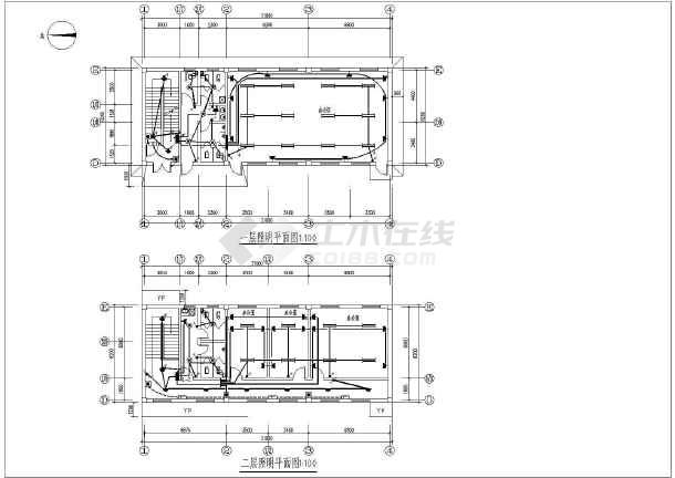 某二层办公楼(带一层地下)电气设计图纸