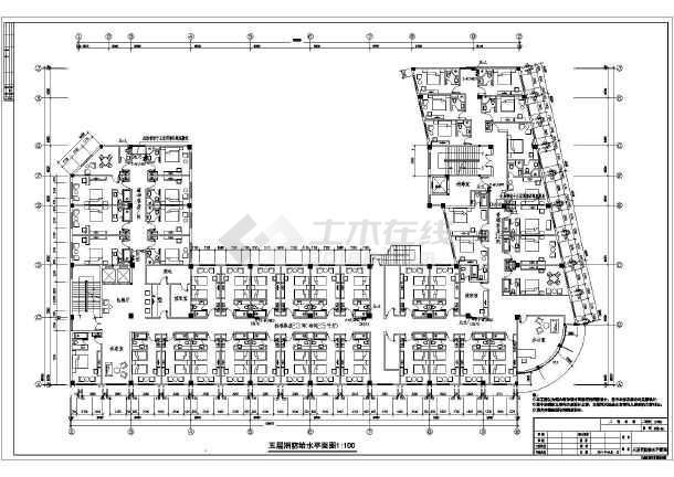 图纸包括:消防设计施工说明,一层至屋顶消防给水平面图,一层至五层