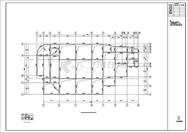 某地两层框架结构楼阶梯教室结构施工图