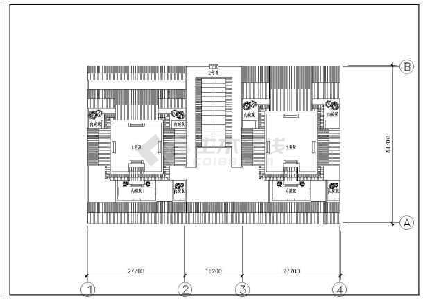四合院建筑结构施工图_cad图纸下载-土木在线