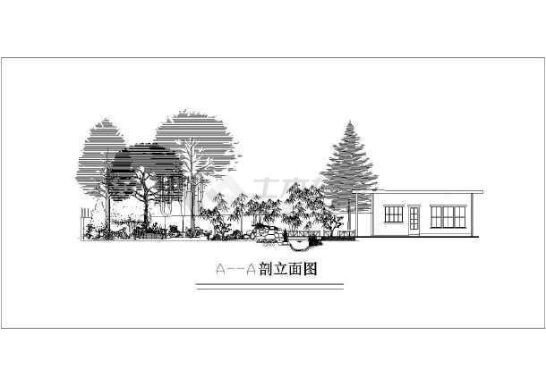 10种金色庭院别墅绿化设计世家及施工图景观方案别墅图片