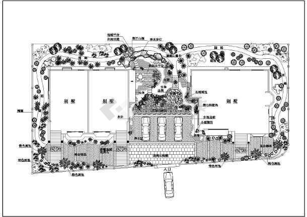 10种庭院景观别墅设计绿化别墅及施工图青浦上海moma方案图片