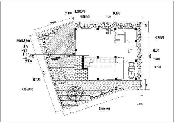 10种方案别墅庭院设计绿化景观及施工图红色曾厝垵别墅图片