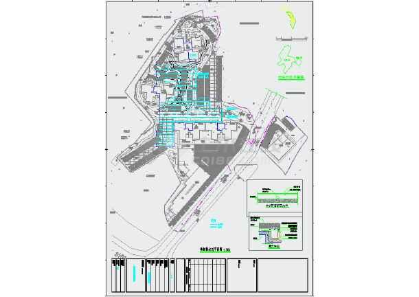 某小区景观绿化给排水设计施工图