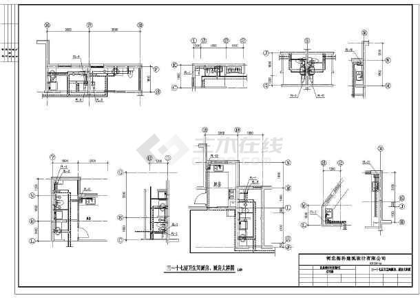 某十八层住宅楼给排水设计成套图纸-图3