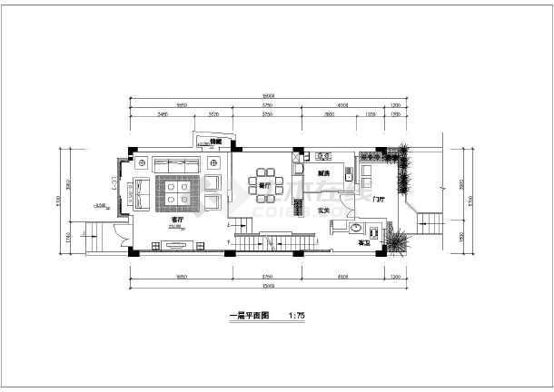 某样板房住宅装修设计施工图(共8张)-图一图片