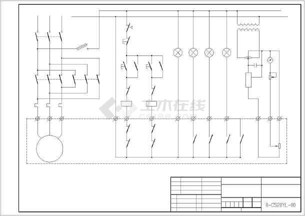 某c520风机油泵控制系统电动阀门接线图图片
