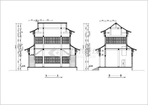 某地寺庙观音大殿建筑设计施工图纸