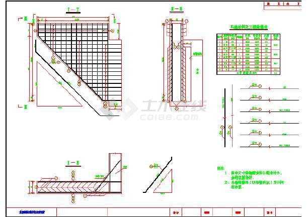 某地区整套5m高轻型桥台图纸(共3张)