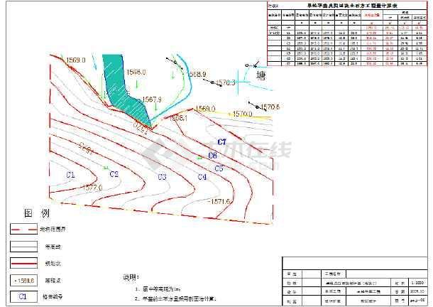 梯田整理项目规划设计cad图(预算、渠道)要土地员cad图片