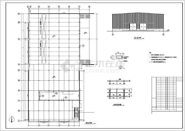 内容包含结构,基础平面布置图
