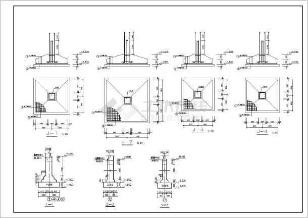 图纸 建筑结构图 钢结构图纸 门式刚架 某单层错层锅炉房结构设计施工