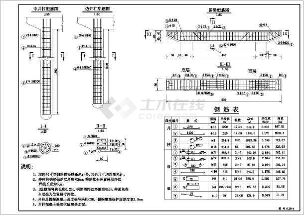 结构钢筋图,图纸包含:桥板配筋图,平面布置图,护栏构造图,横剖面图