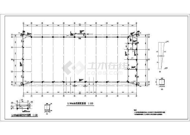 图纸 建筑结构图 网架结构图纸 体育中心图纸 某学校学校室内球场结构