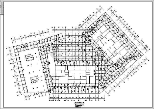 某高层群楼桩筏基础地下室建筑结构施工图
