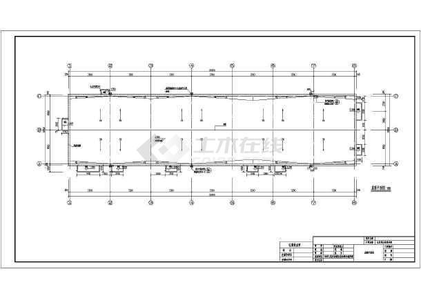 四川1层框架结构水处理车间建筑专业施工图