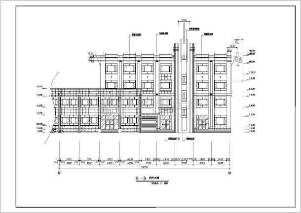 某地四层长途公共汽车站装饰装修工程设计方案图
