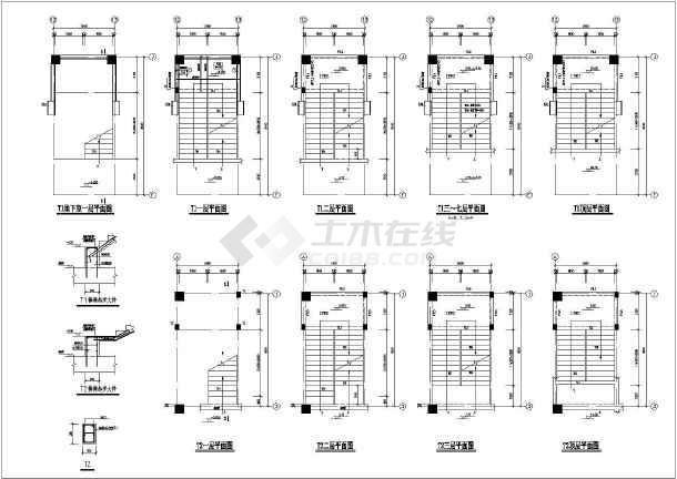 杆塔板式基础图