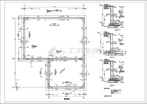 某地泵房,消防水池结构设计施工图